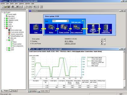 SIZER - бесплатное программное обеспечение для проектирования систем электропривода.