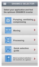 Приложение для мобильных устройств SINAMICS Support